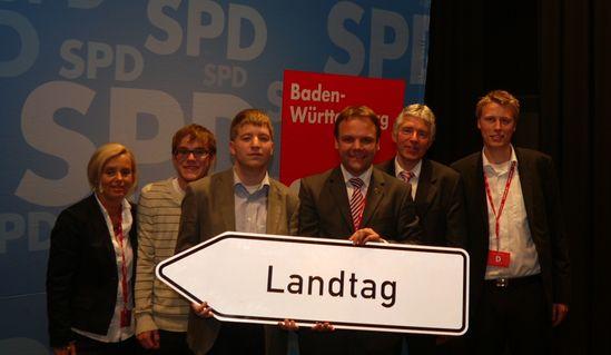 Cornelia Bär-Stoll, Ingo Rust, Heribert Blättgen und Juso-Delegation